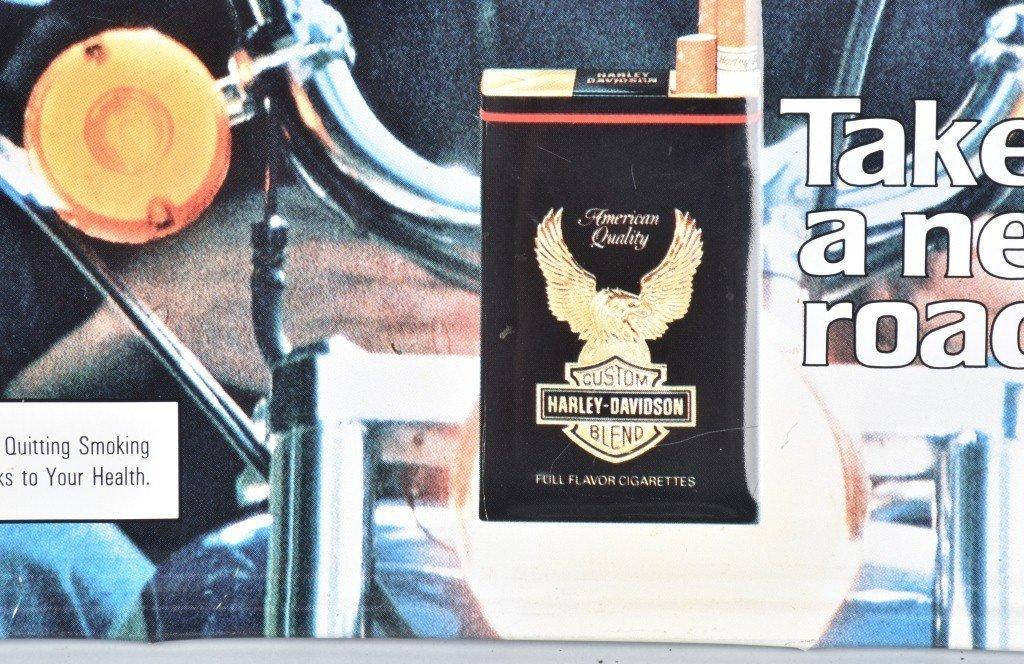 HARLEY DAVIDSON CIGARETTE ADVERTISING SIGN - 2