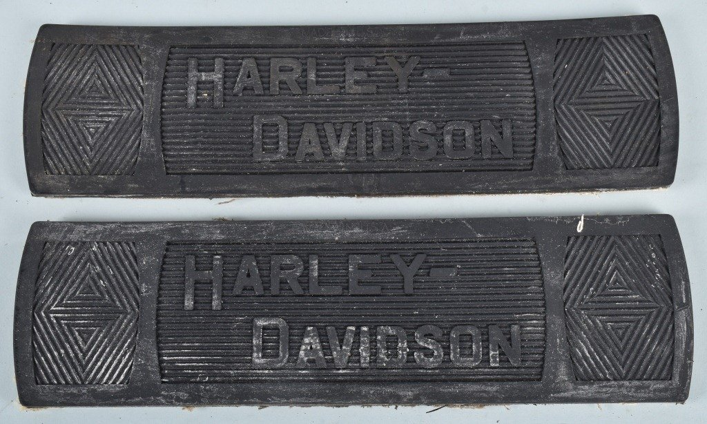 2-HARLEY DAVIDSON 1914-39 NOS FLOOR BOARD MATS