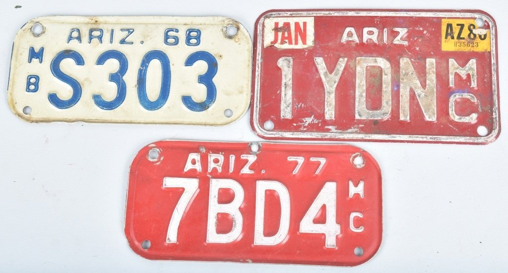 LOT OF 7 MISC. USA MOTORCYCLE LICENSE PLATES - 2