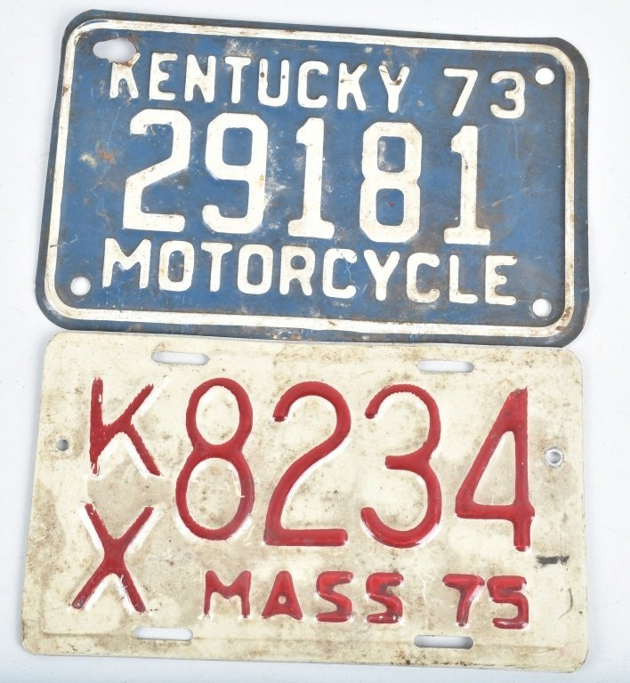 LOT OF 7 MISC. USA MOTORCYCLE LICENSE PLATES - 3