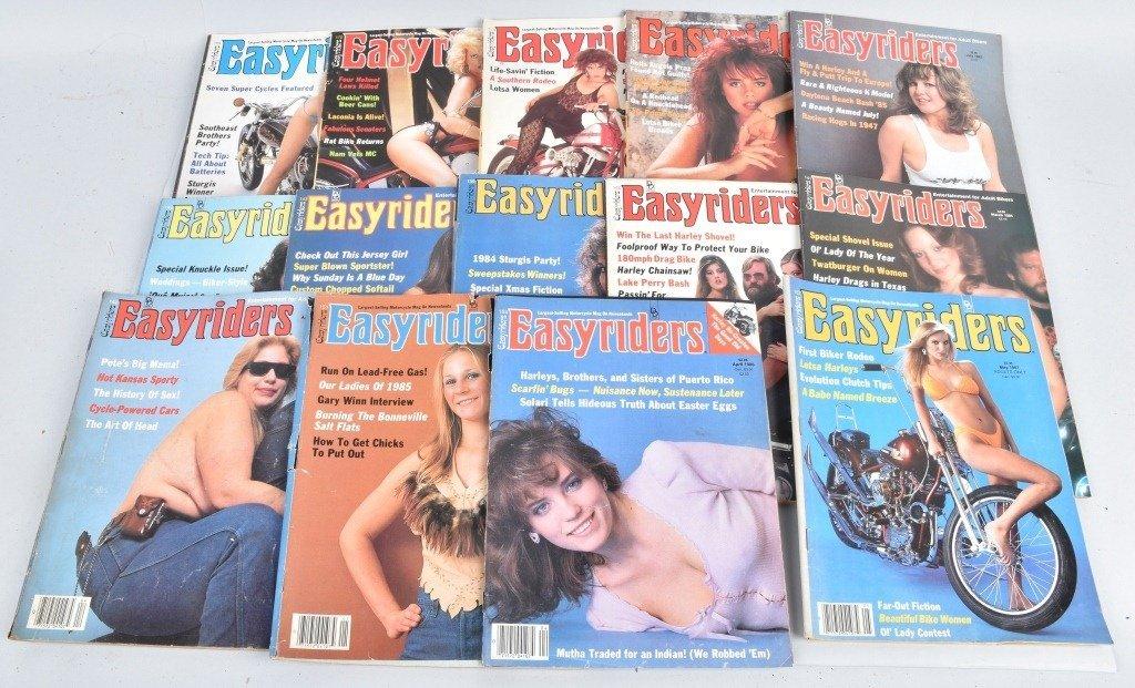 LOT OF 27 1980'S EASY RIDER MAGAZINES