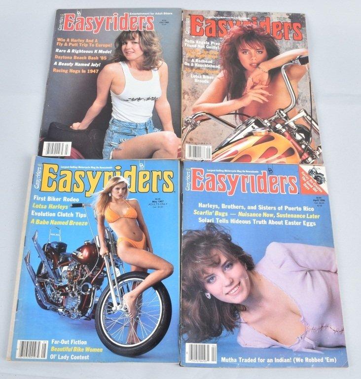 LOT OF 27 1980'S EASY RIDER MAGAZINES - 4