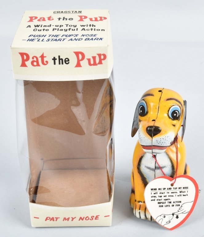 CRAGSTAN Tin Windup PAT THE PUP w/ BOX