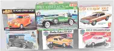 6- VINTAGE MODEL KITS STILL SEALED