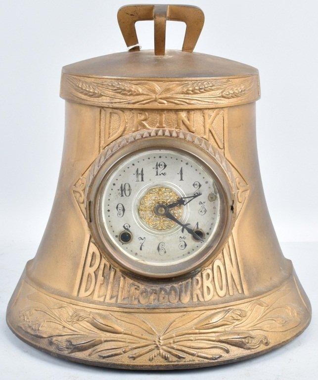 DRINK BELLE of BOURBON ADVERTISING CLOCK