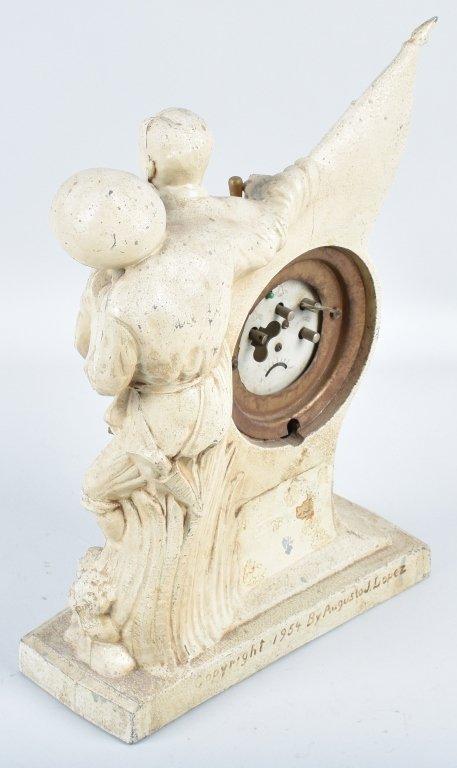 MAGSAYSAY FIGURAL METAL CLOCK, 1954 - 5