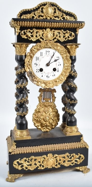 FRENCH CLOCK with MUSIC BOX, VINTAGE