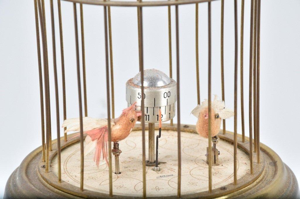 GERMAN KAISER MECHANICAL BIRDS in CAGE CLOCK - 2