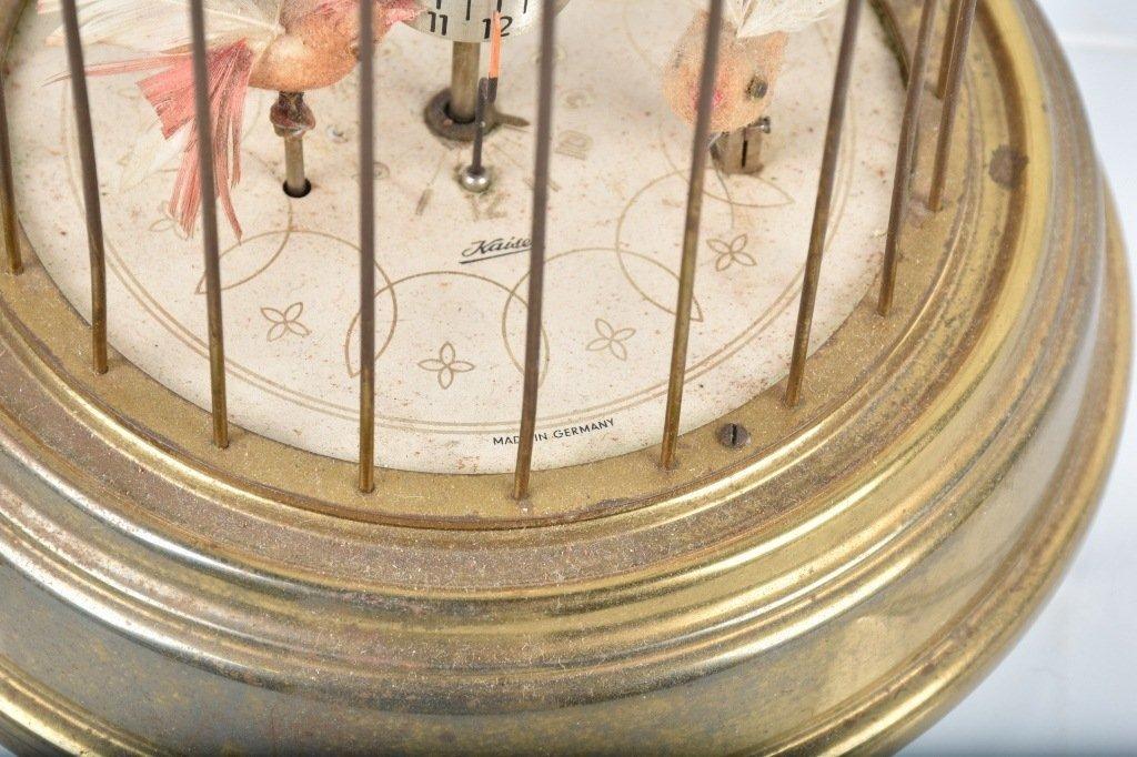 GERMAN KAISER MECHANICAL BIRDS in CAGE CLOCK - 3