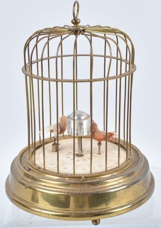 GERMAN KAISER MECHANICAL BIRDS in CAGE CLOCK - 4