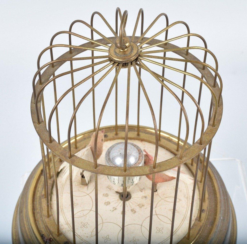 GERMAN KAISER MECHANICAL BIRDS in CAGE CLOCK - 5