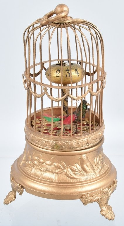 LOT of 3 BIRD CAGES, CLOCKS & MORE - 3