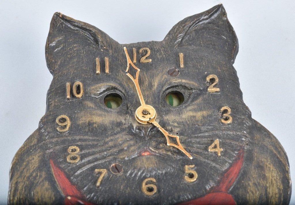KEEBLER ANIMATED CAT CLOCK, VINTAGE - 2