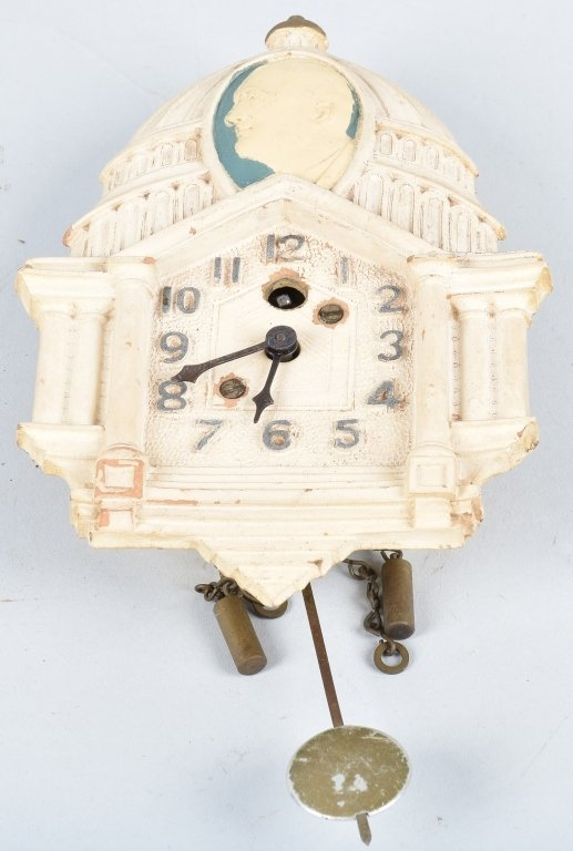 LUX FDR NEW DEAL WHITE HOUSE POLITCAL CLOCK - 6