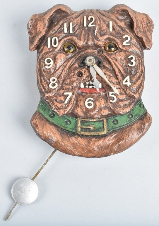 KEEBLER BULLDOG NOVELTY CLOCK