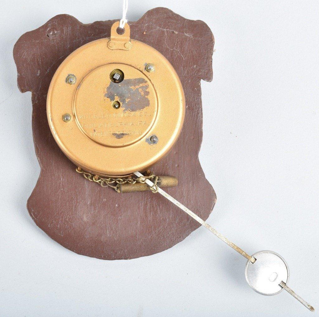 KEEBLER BULLDOG NOVELTY CLOCK - 2