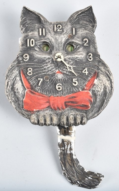 LUX ANIMATED CAT NOVELTY CLOCK