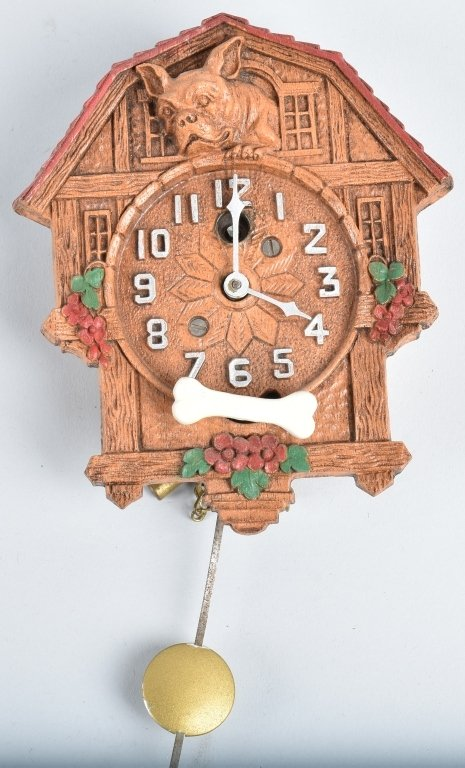 KEEBLER ANIMATED FRENCH BULLDOG NOVELTY CLOCK