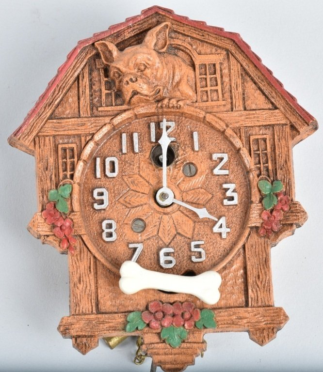 KEEBLER ANIMATED FRENCH BULLDOG NOVELTY CLOCK - 2