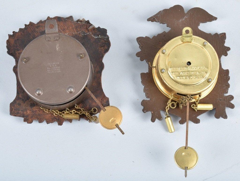 2- MINIATURE CUCKOO CLOCKS, KEEBLER - 2