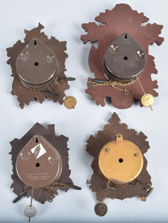 4-MINIATURE CUCKOO CLOCKS, LUX and KEEBLER - 2