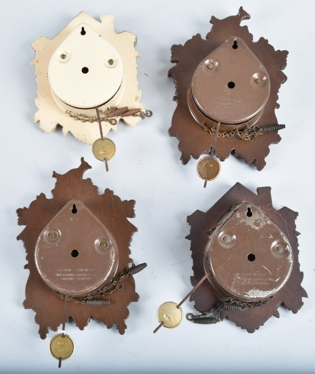 4-MINIATURE ANIMATED CUCKOO CLOCKS, LUX - 2