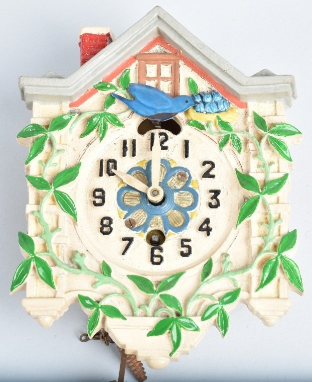 4-MINIATURE ANIMATED CUCKOO CLOCKS, LUX - 3