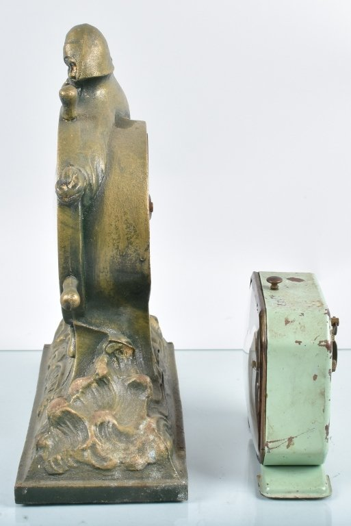 2- ANIMATED CLOCKS, SAILOR & SPINNING WHEEL - 5