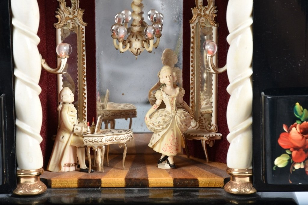 BOUCHER ANIMATED PIANIST & DANCER MUSIC BOX - 2