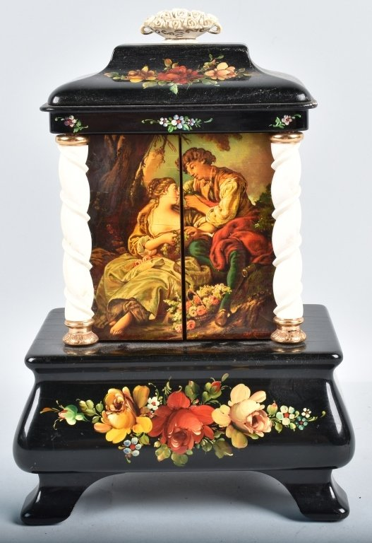 BOUCHER ANIMATED PIANIST & DANCER MUSIC BOX - 4
