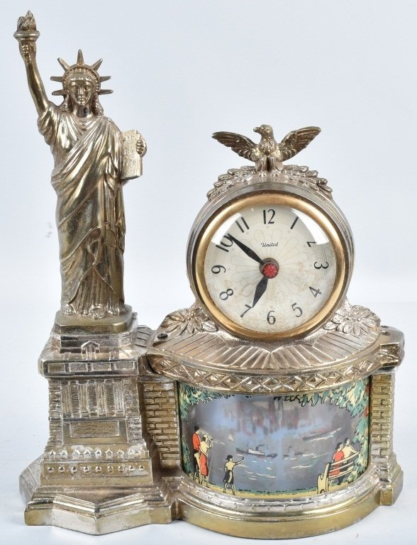 NEW YORK STATUE of LIBERTY CLOCK / MOTION LAMP