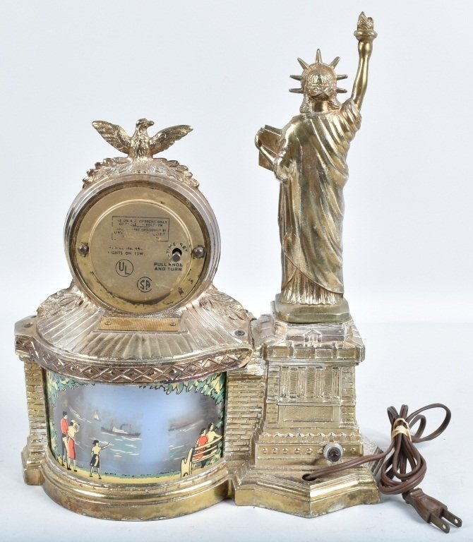 NEW YORK STATUE of LIBERTY CLOCK / MOTION LAMP - 9