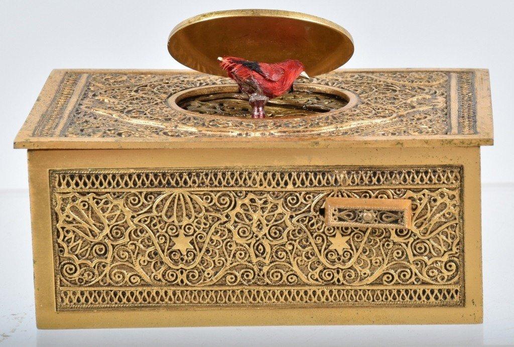 GERMAN WINDUP MUSICAL BIRD BOX - 2