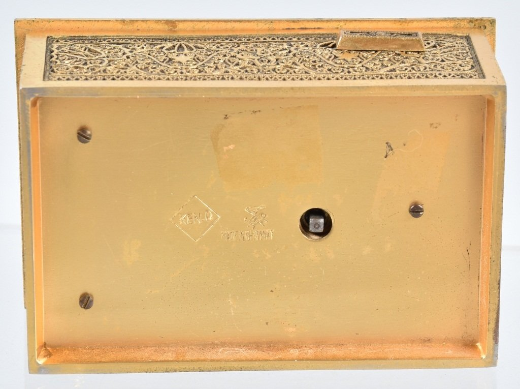GERMAN WINDUP MUSICAL BIRD BOX - 7