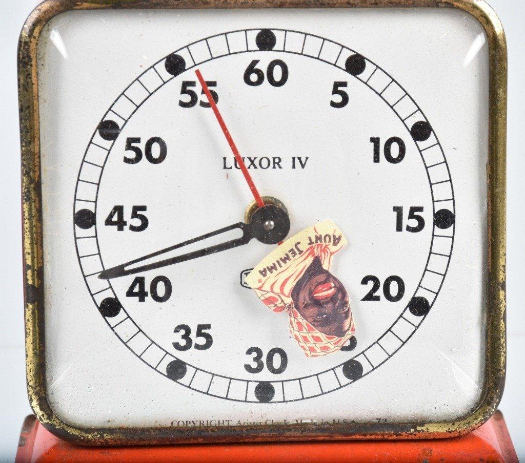 AUNT JEMIMA ADVERTISING CLOCK, B&J, LUXOR IV - 2
