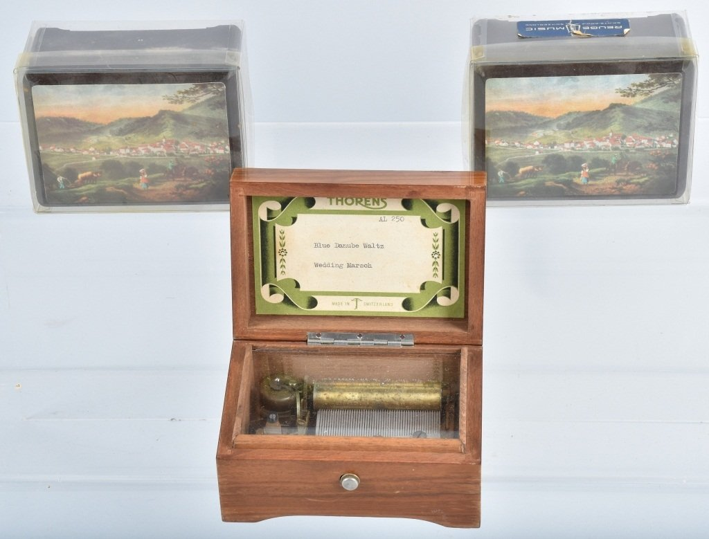 5-MINIATURE MUSIC BOXES - 4
