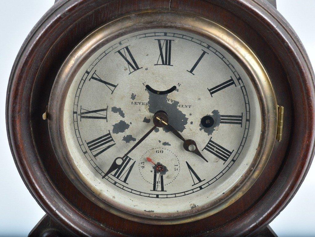 ANTIQUE WATERBURY PATENT LEVER SHELF CLOCK - 2