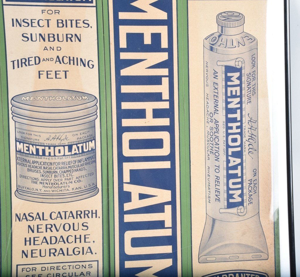 2-LARGE MENTHOLATUM STORE DISPLAY BOXES, VINTAGE - 3