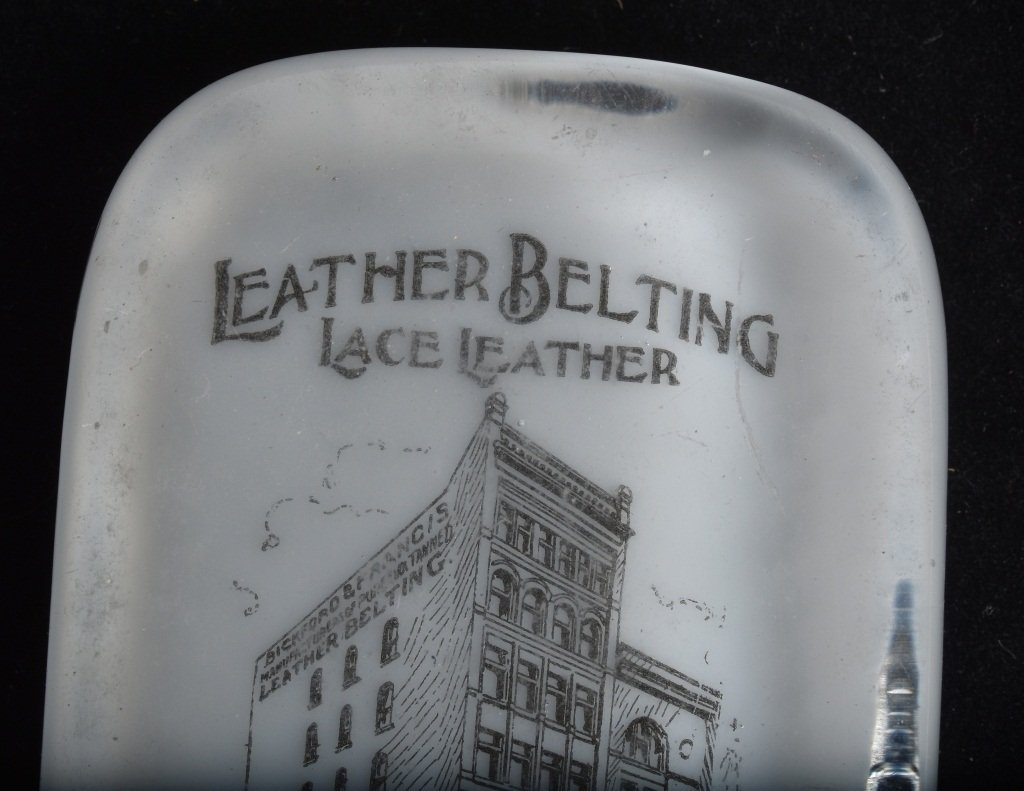 ADVERTISING PAPERWEIGHT BICKFORD LEATHER - 2