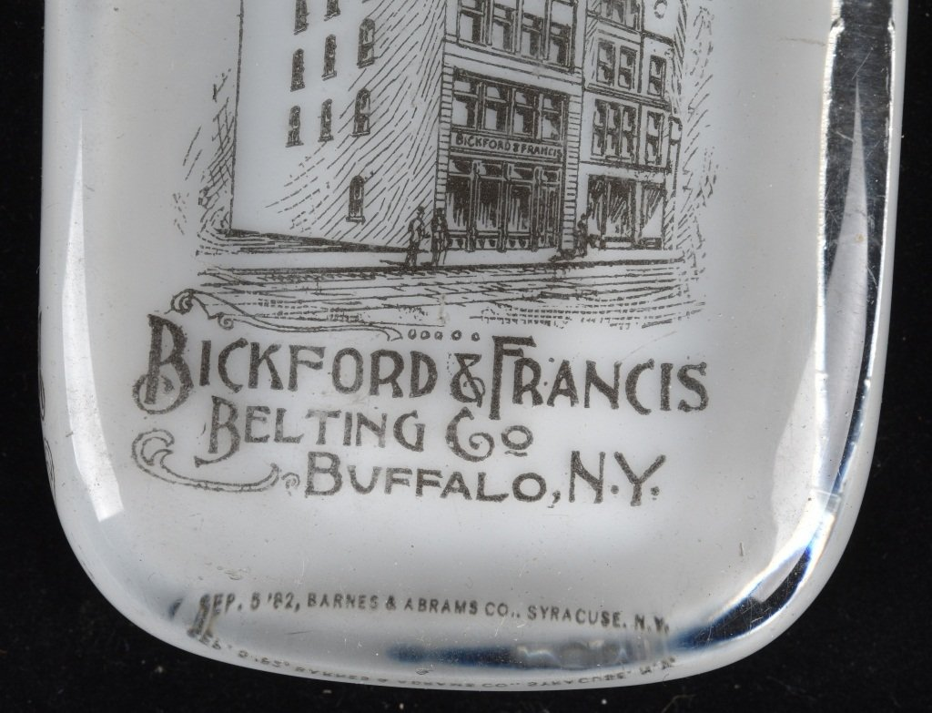 ADVERTISING PAPERWEIGHT BICKFORD LEATHER - 3