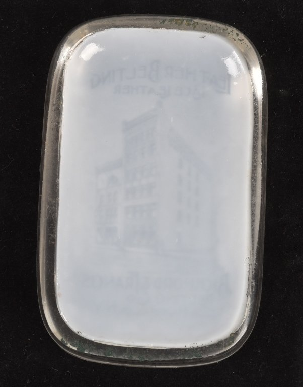 ADVERTISING PAPERWEIGHT BICKFORD LEATHER - 4