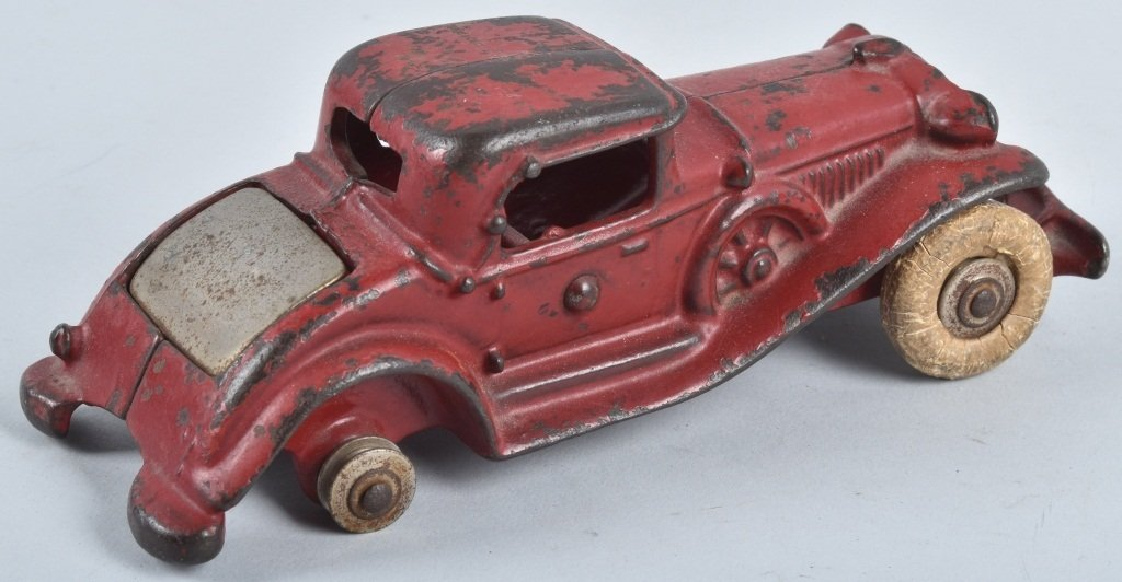 A.C. WILLIAMS CAST IRON REO RUMBLE SEAT COUPE - 3