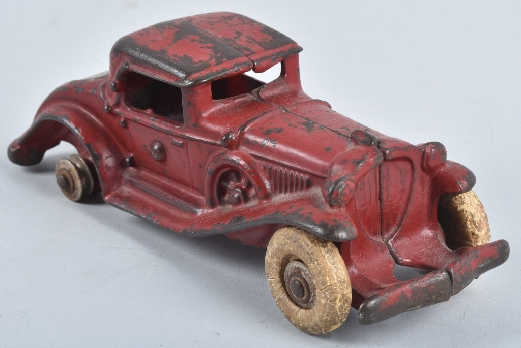A.C. WILLIAMS CAST IRON REO RUMBLE SEAT COUPE - 4