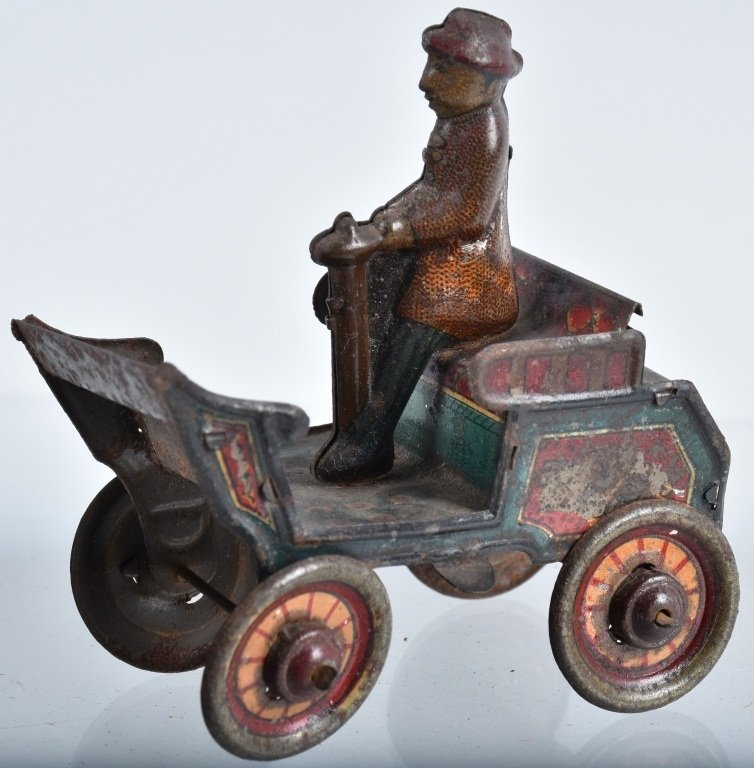 2-PRE WAR JAPAN TIN TOYS, EARLY AUTO & HORSE - 2
