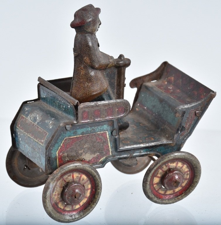 2-PRE WAR JAPAN TIN TOYS, EARLY AUTO & HORSE - 3