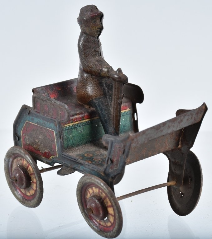 2-PRE WAR JAPAN TIN TOYS, EARLY AUTO & HORSE - 4