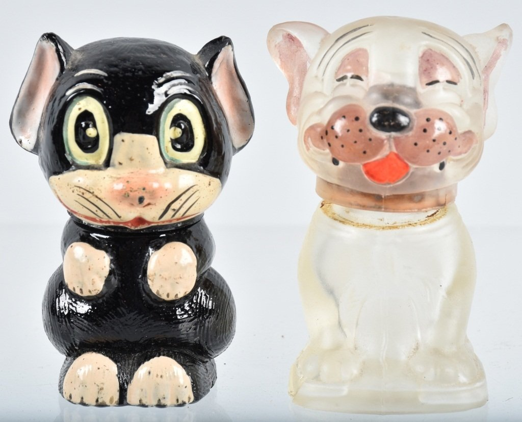 2-EARLY CHARACTER PERFUME BOTTLE, POTTER & MOORE