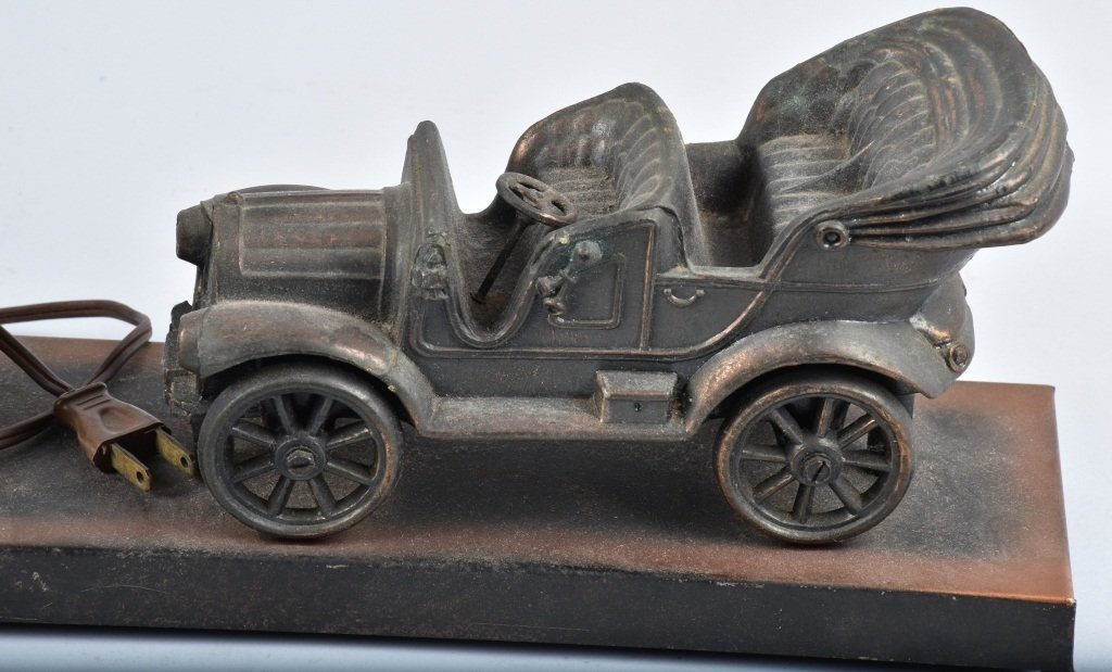 FIGURAL EARLY AUTO and GAS PUMP CLOCK / LAMP - 2