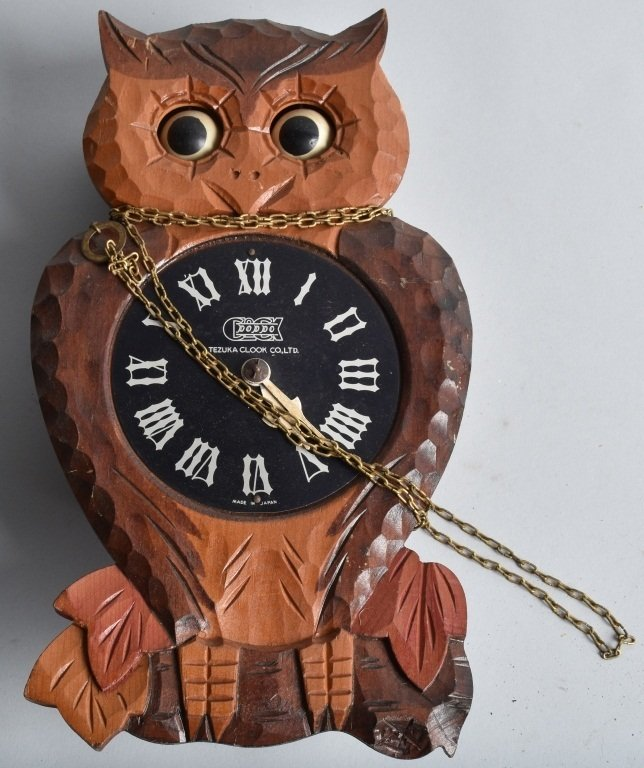 2-BLINKING EYE OWL NOVELTY CLOCKS and MORE - 2