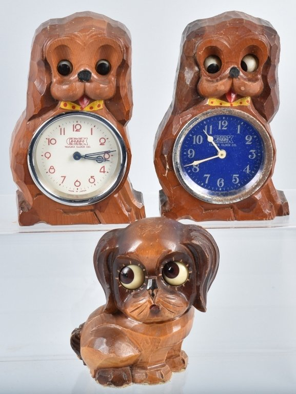 4-ANIMATED NOVELTY CLOCKS & BLINKING DOG - 2